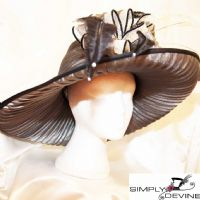 Peter Bettley Black White and Silver Sumptuous Hat PB39